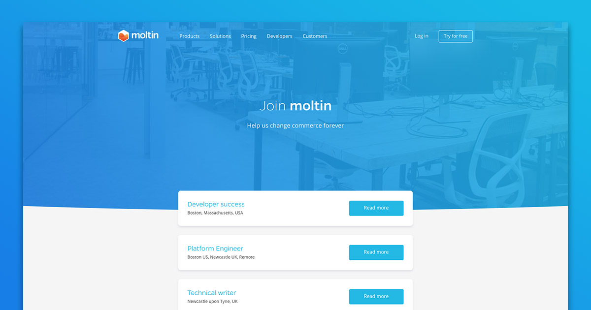 Moltin | Careers - Senior Software Engineer - GoLang