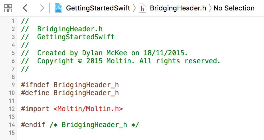 iOS bridging header